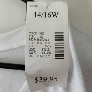 Lane Bryant Tops - White and silver sequins detailed shirt